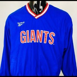 NY Giants vtg Reebok pullover coat